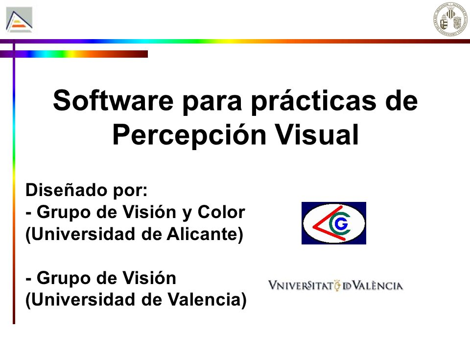 Software para prácticas de Percepción Visual