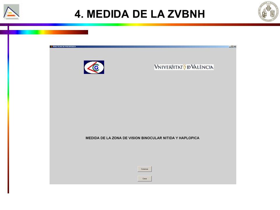4. MEDIDA DE LA ZVBNH