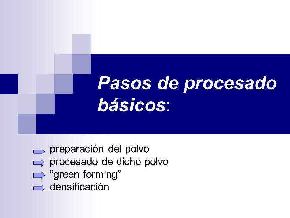 Pasos de procesado básicos: