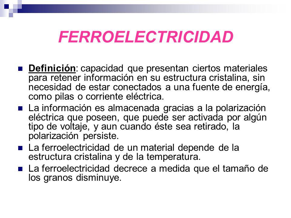 FERROELECTRICIDAD