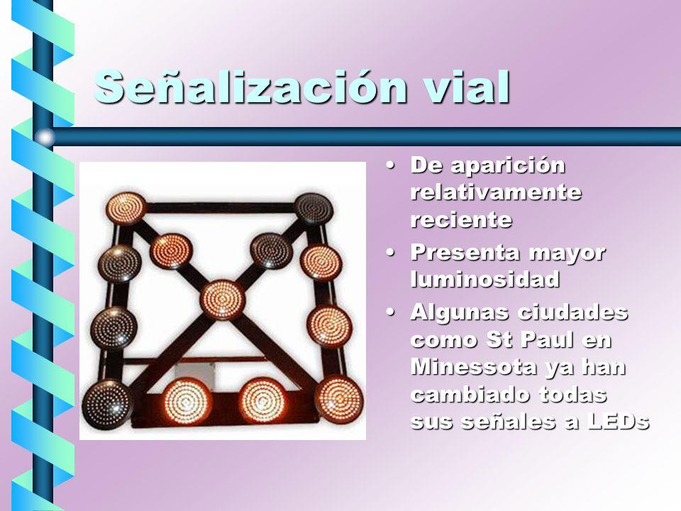 Señalización vial De aparición relativamente reciente