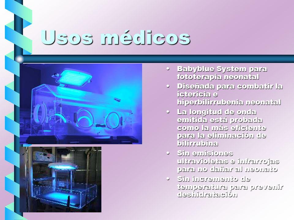 Usos médicos Babyblue System para fototerapia neonatal