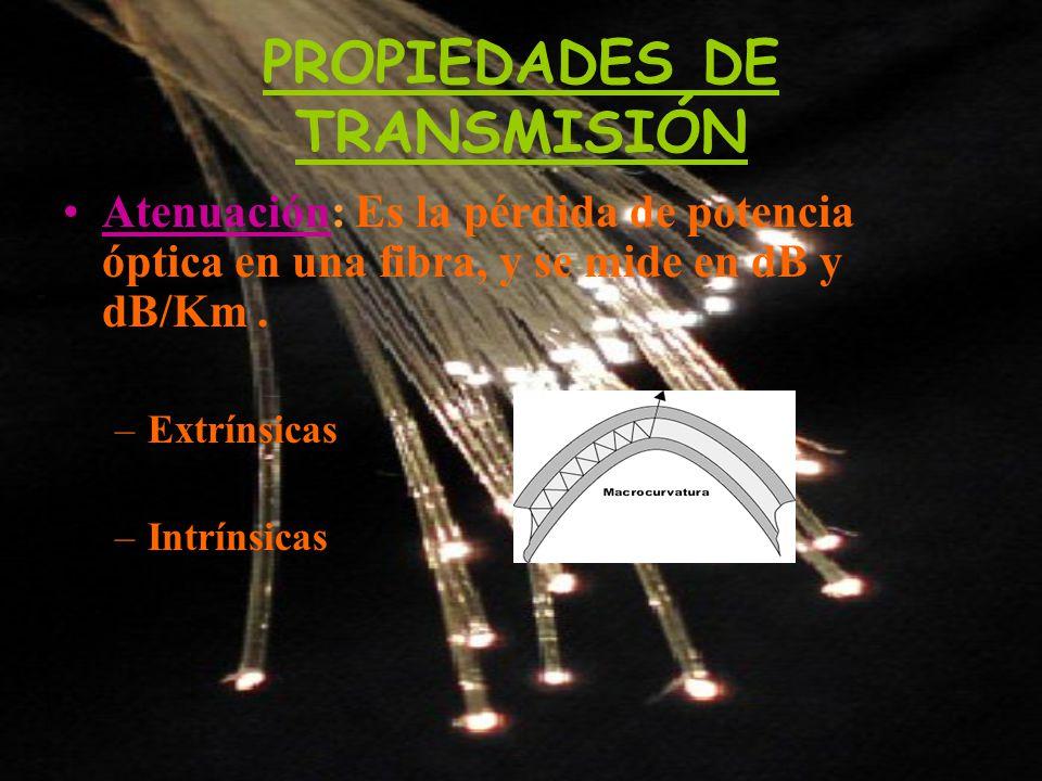 PROPIEDADES DE TRANSMISIÓN
