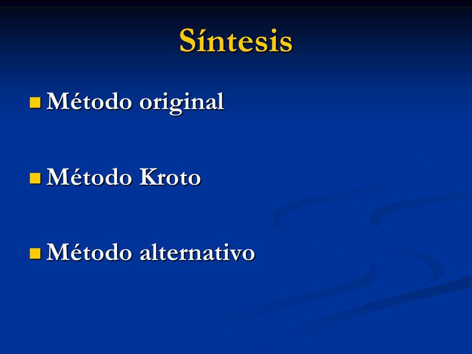 Síntesis Método original Método Kroto Método alternativo