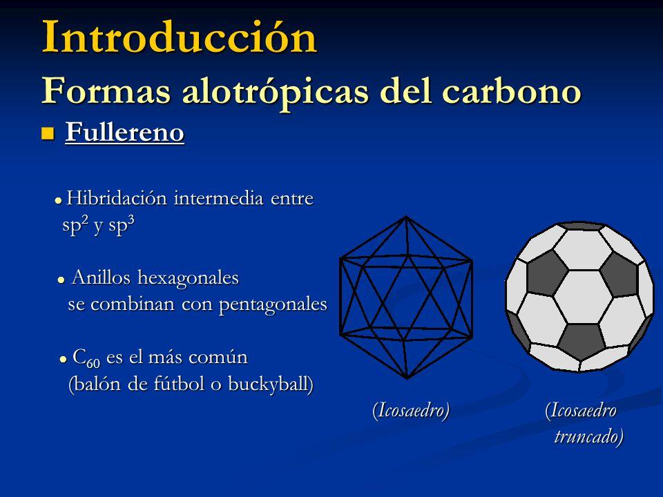 Introducción Formas alotrópicas del carbono