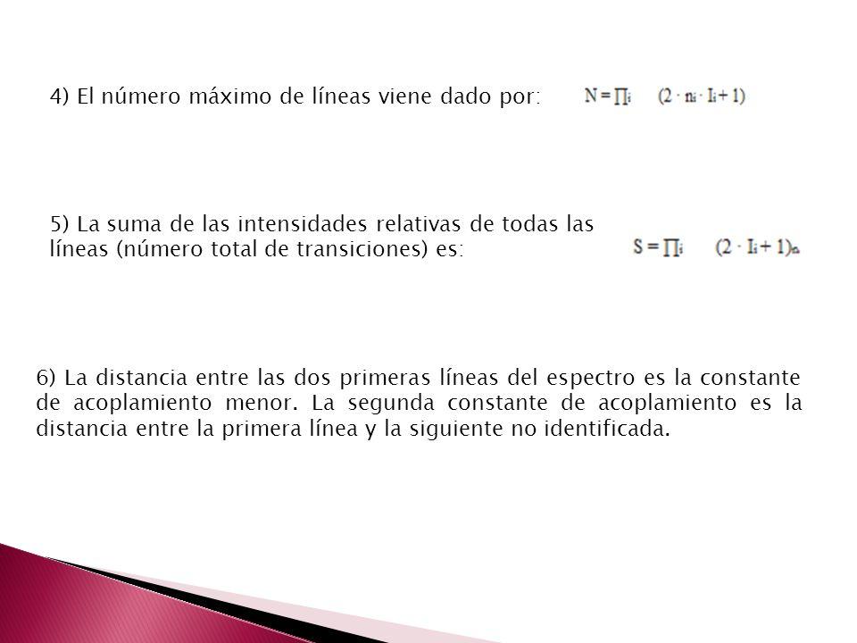 4) El número máximo de líneas viene dado por: