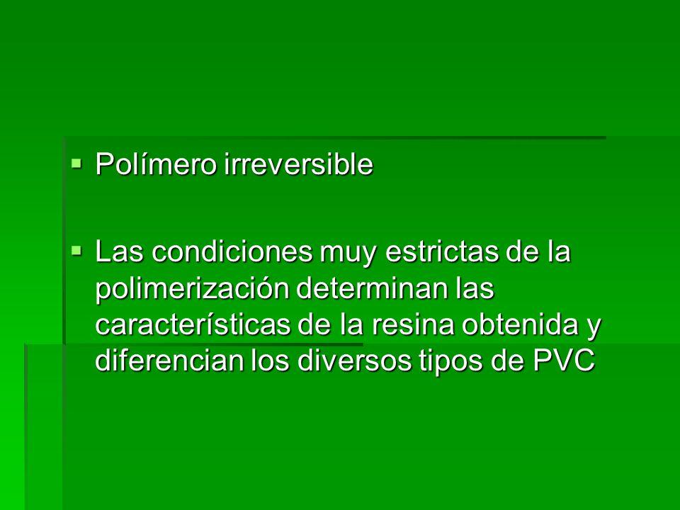 Polímero irreversible