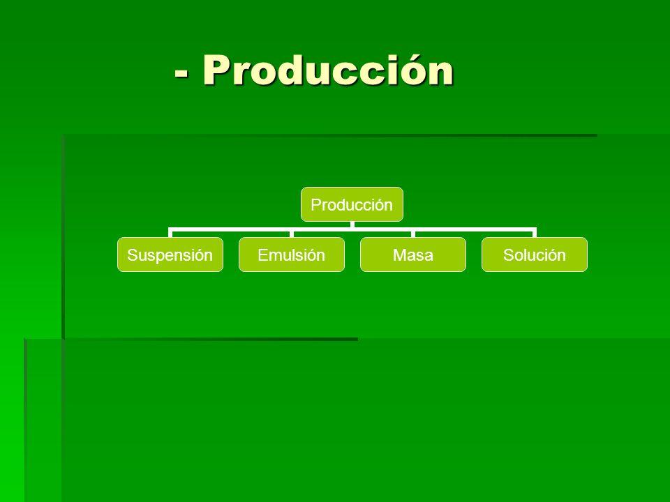 - Producción