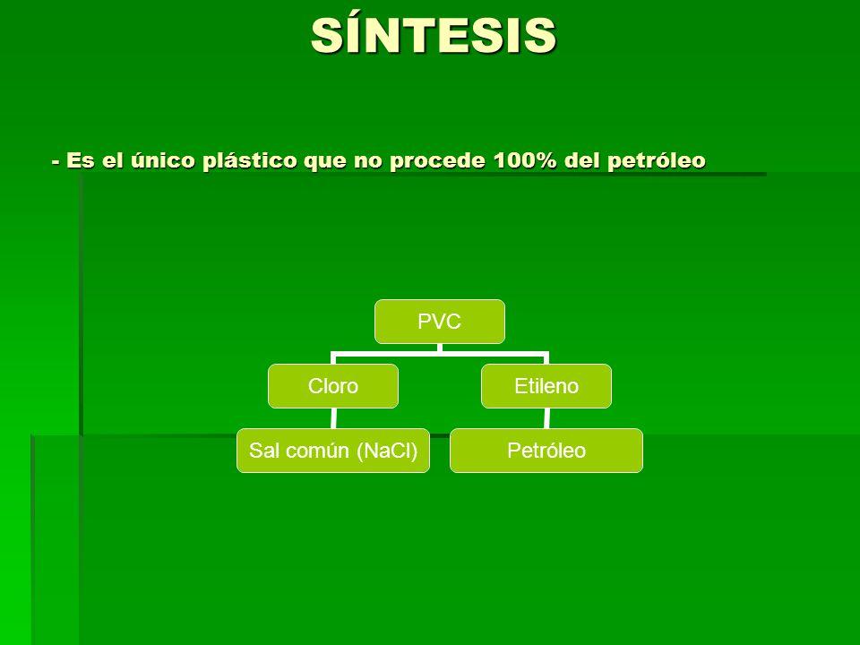 SÍNTESIS - Es el único plástico que no procede 100% del petróleo