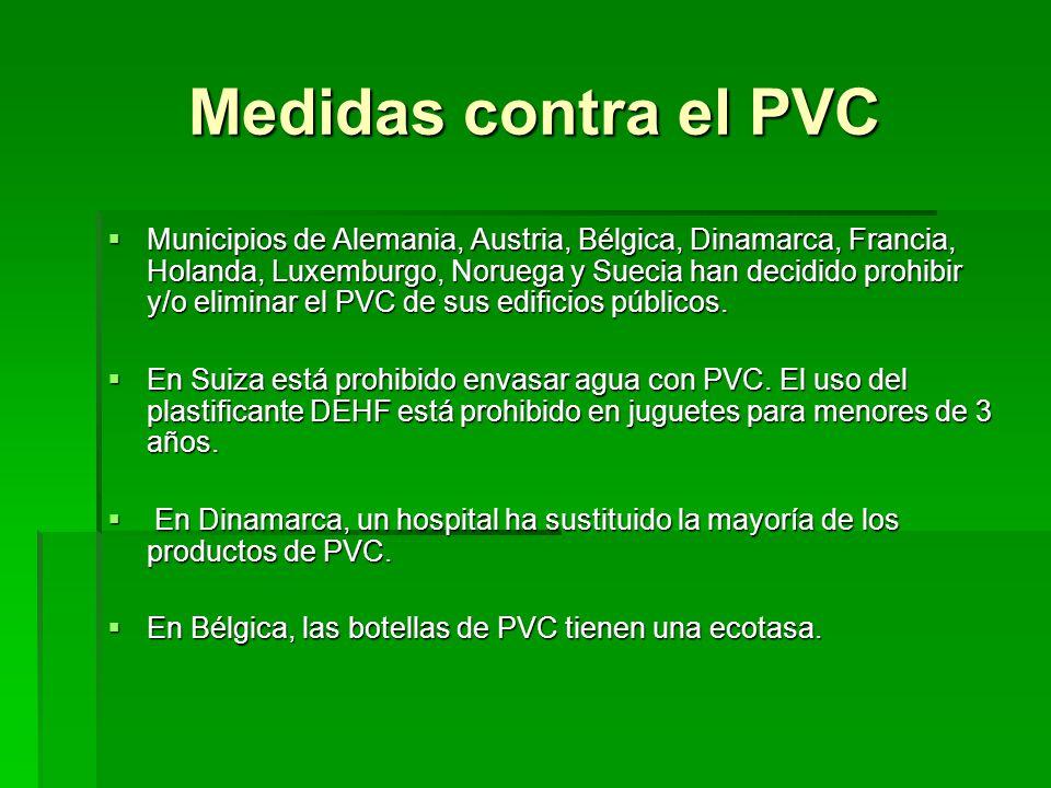 Medidas contra el PVC