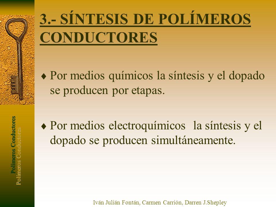 3.- SÍNTESIS DE POLÍMEROS CONDUCTORES