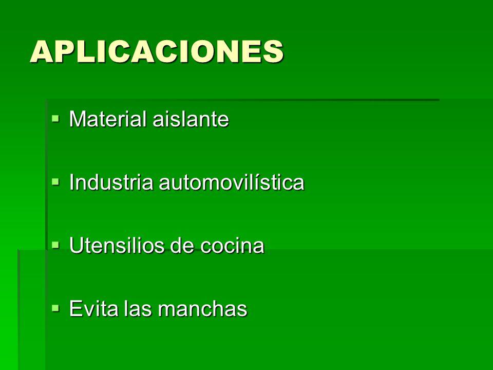APLICACIONES Material aislante Industria automovilística