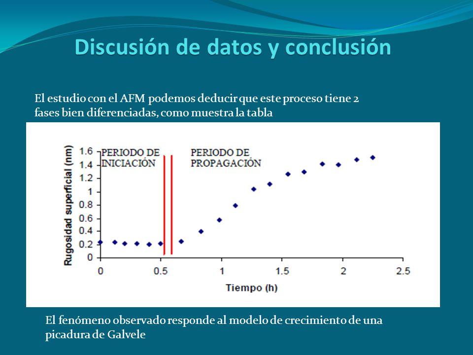 Discusión de datos y conclusión