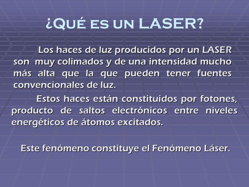 Este fenómeno constituye el Fenómeno Láser.