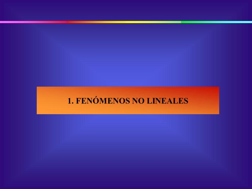 1. FENÓMENOS NO LINEALES