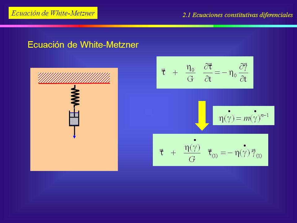 Ecuación de White-Metzner