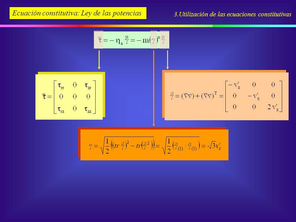 Ecuación constitutiva: Ley de las potencias
