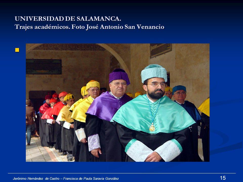 UNIVERSIDAD DE SALAMANCA. Trajes académicos