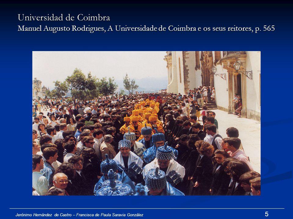 Universidad de Coimbra Manuel Augusto Rodrigues, A Universidade de Coimbra e os seus reitores, p. 565