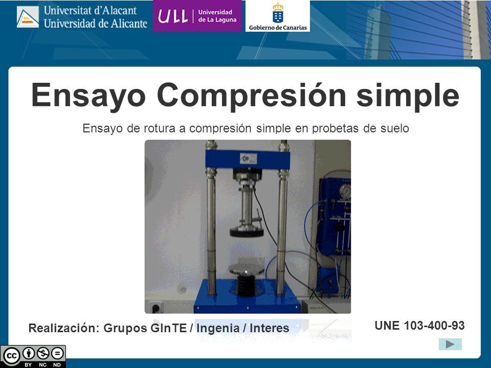 Ensayo Compresión simple