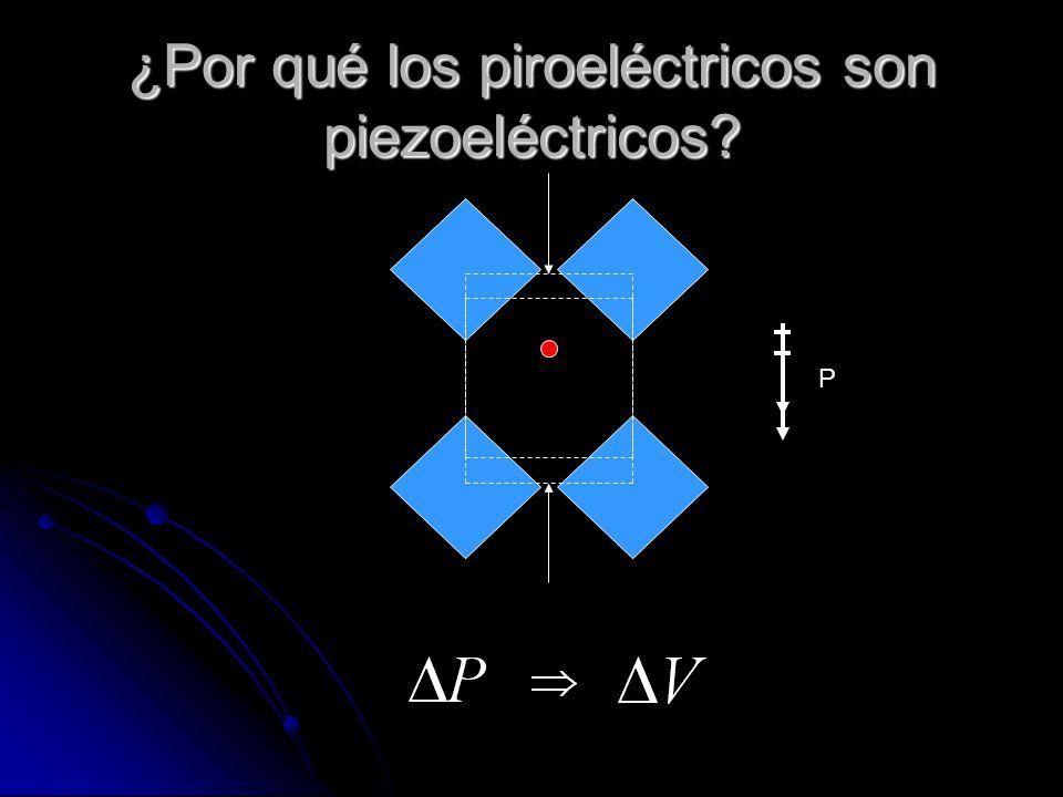 ¿Por qué los piroeléctricos son piezoeléctricos