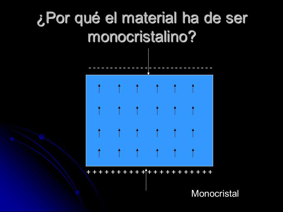 ¿Por qué el material ha de ser monocristalino
