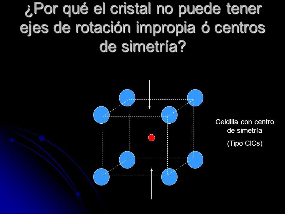 Celdilla con centro de simetría