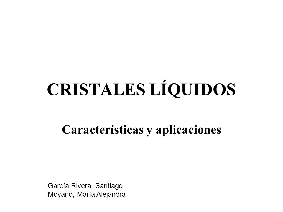 Características y aplicaciones