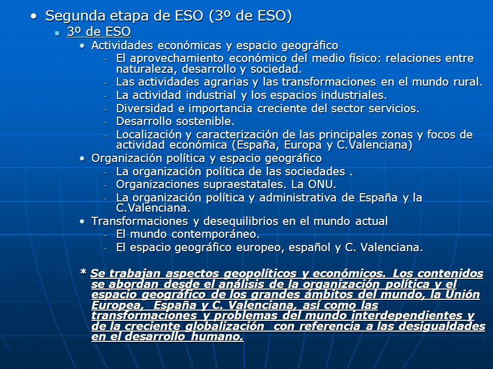 Segunda etapa de ESO (3º de ESO)