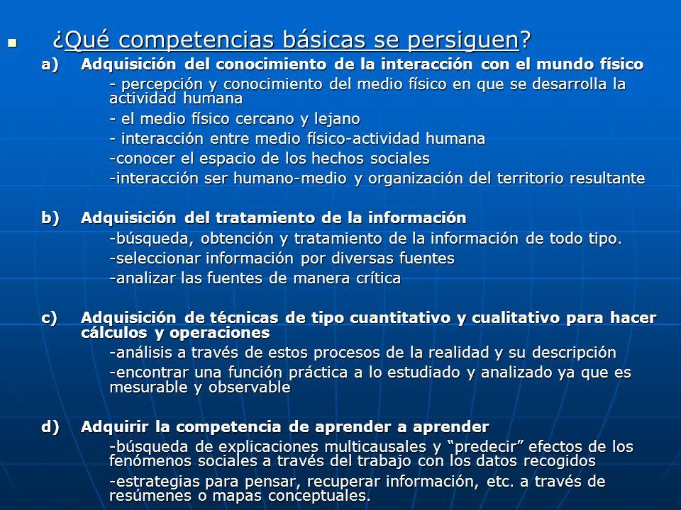 ¿Qué competencias básicas se persiguen
