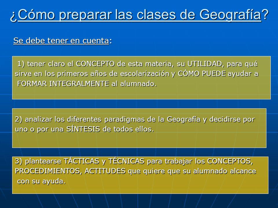 ¿Cómo preparar las clases de Geografía