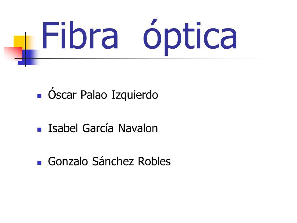Fibra óptica Óscar Palao Izquierdo Isabel García Navalon