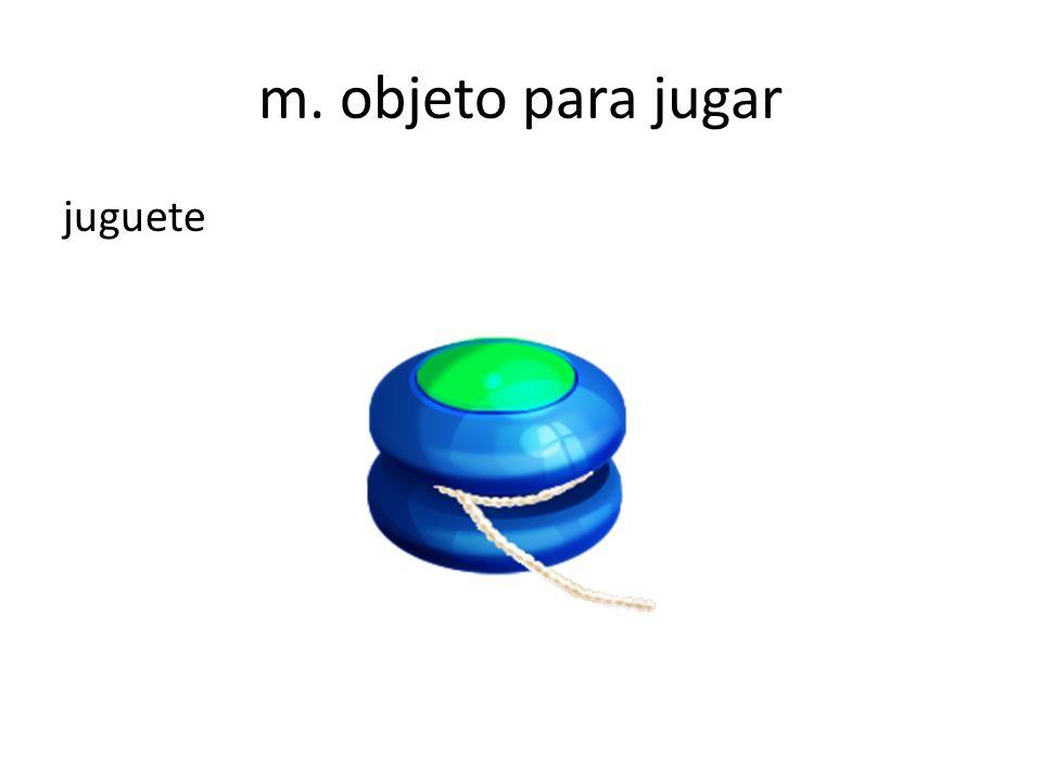 m. objeto para jugar juguete