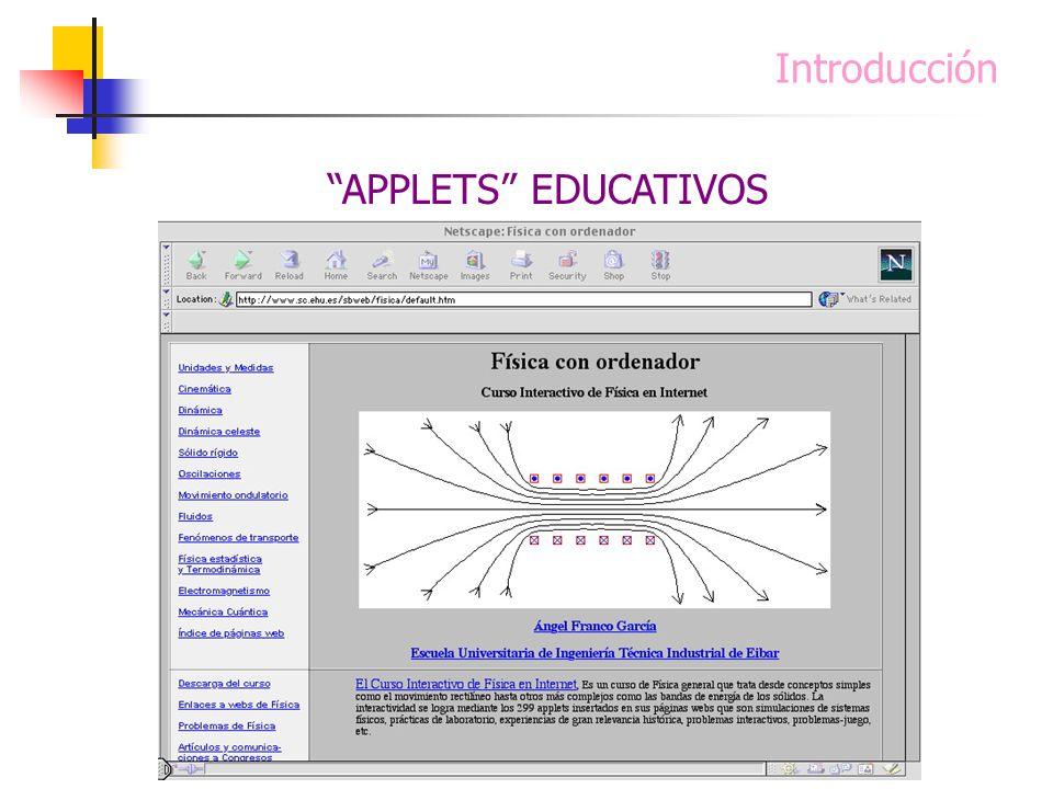 Introducción APPLETS EDUCATIVOS