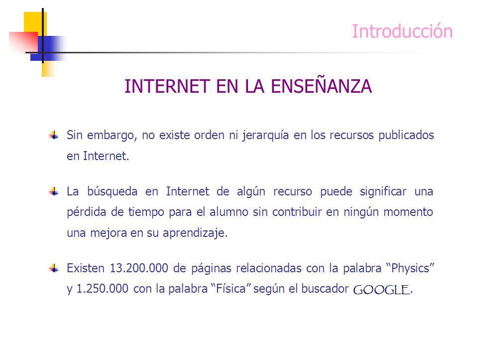 INTERNET EN LA ENSEÑANZA