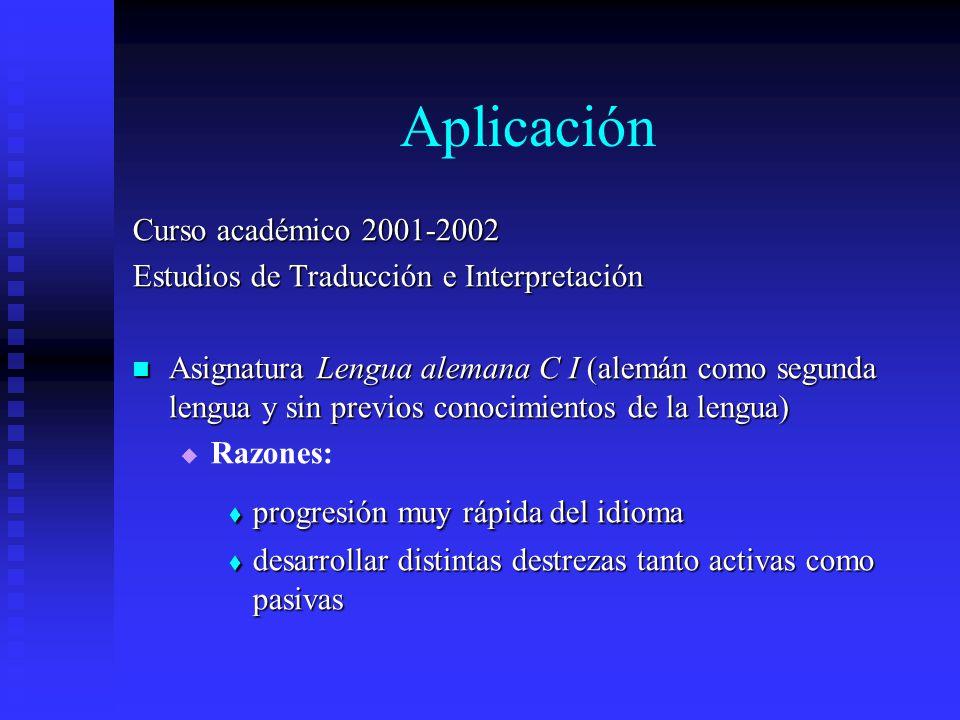 Aplicación Curso académico 2001-2002