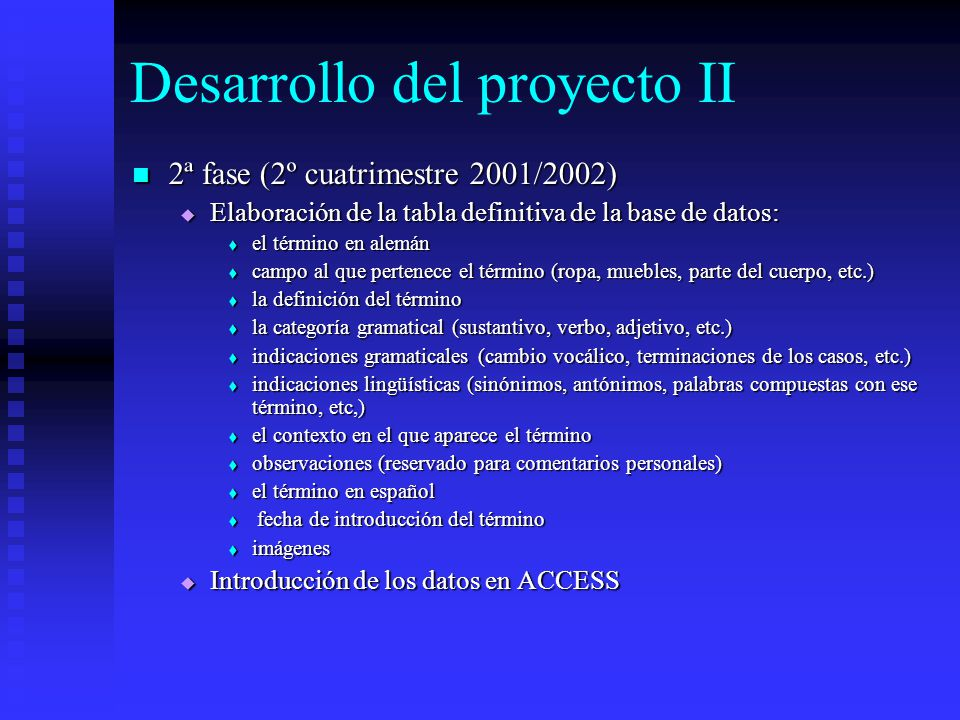 Desarrollo del proyecto II