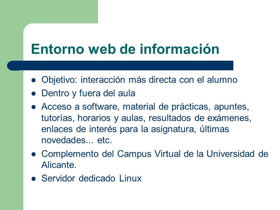 Entorno web de información