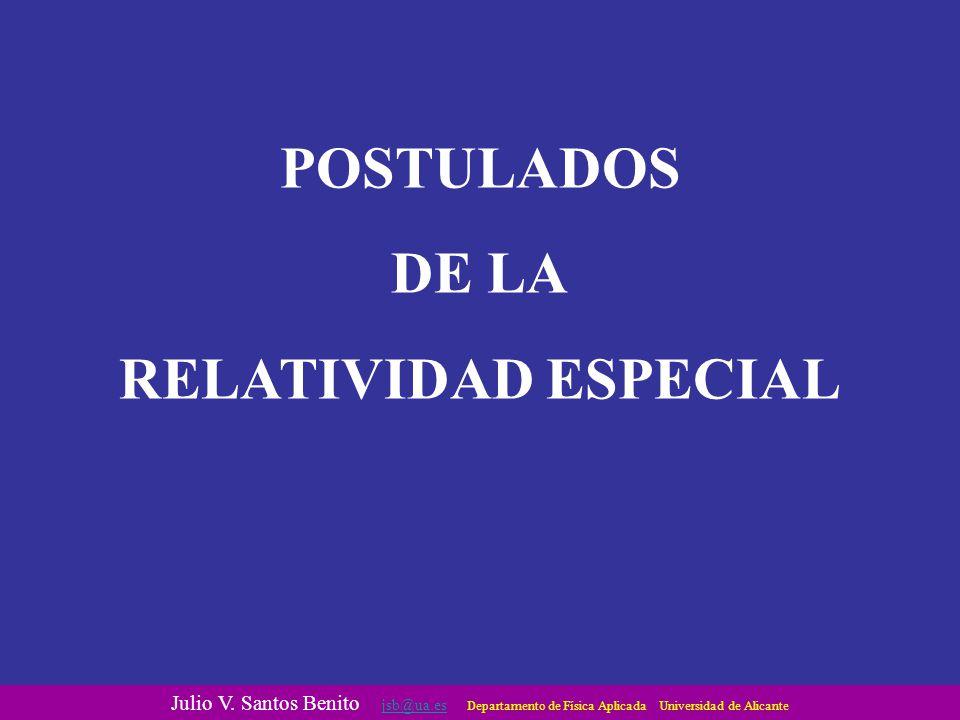 POSTULADOS DE LA RELATIVIDAD ESPECIAL