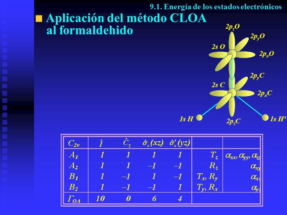 Aplicación del método CLOA al formaldehido