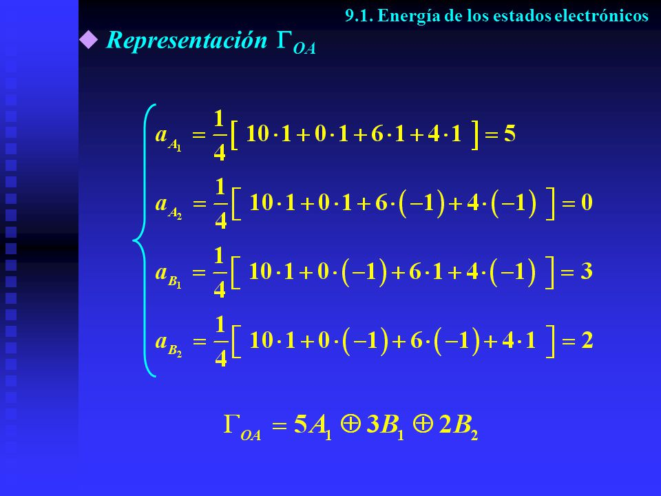 9.1. Energía de los estados electrónicos