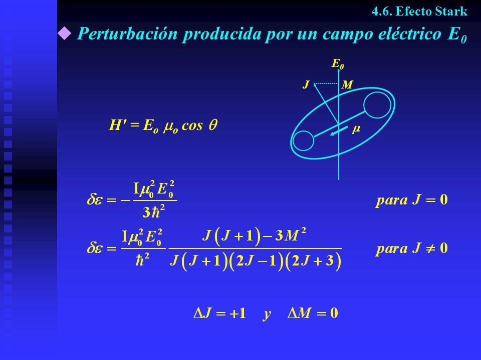 Perturbación producida por un campo eléctrico E0