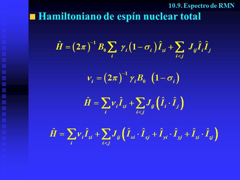 Hamiltoniano de espín nuclear total