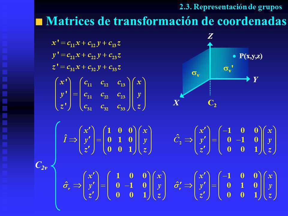 Matrices de transformación de coordenadas