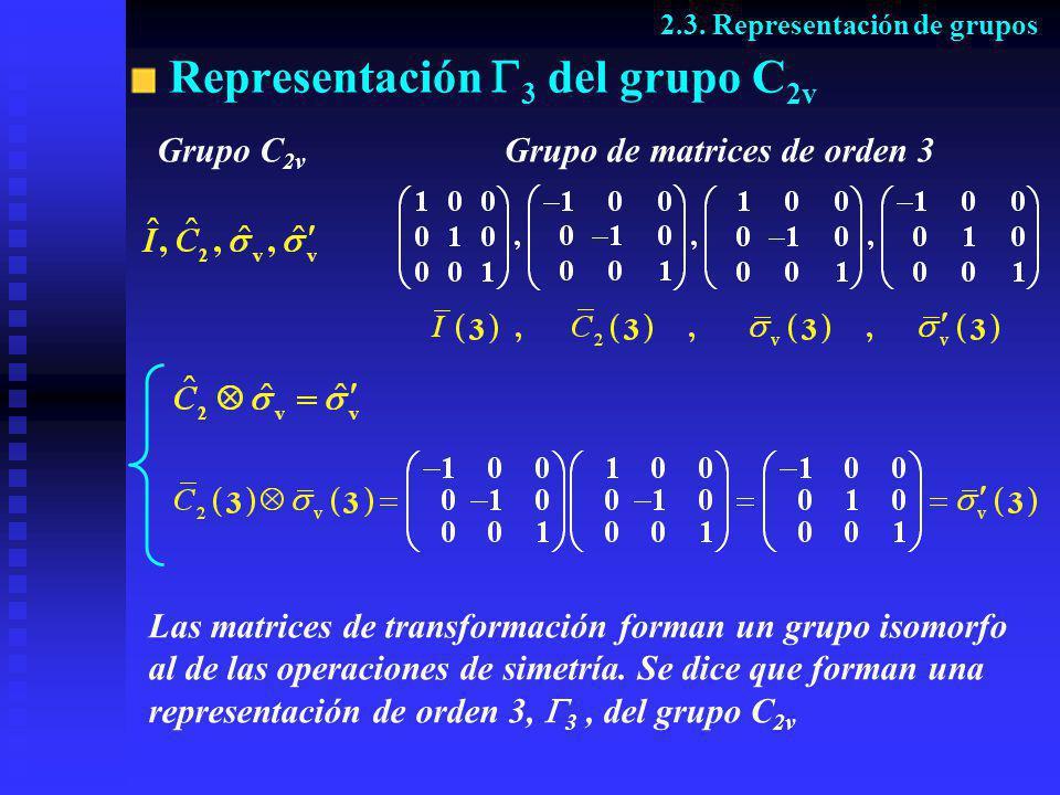 Representación 3 del grupo C2v