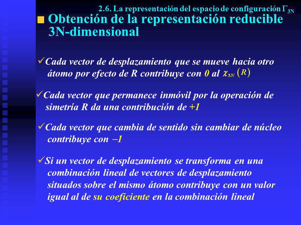 Obtención de la representación reducible 3N-dimensional