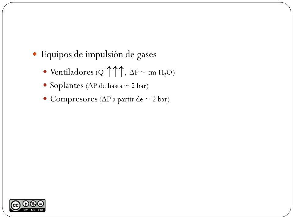 Equipos de impulsión de gases