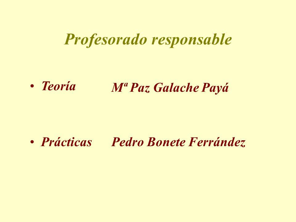 Profesorado responsable