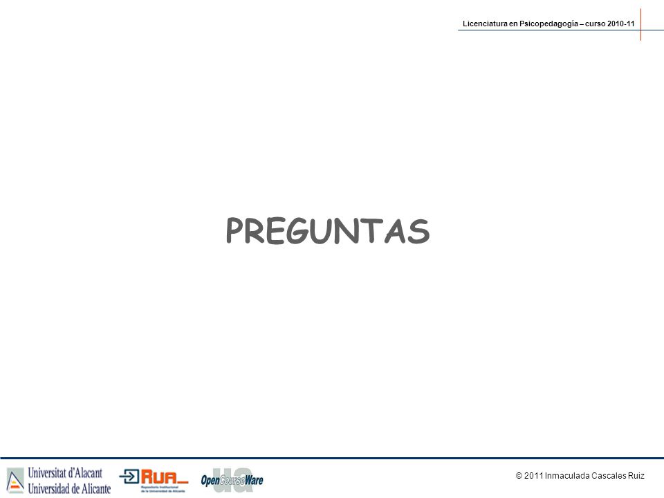 © 2011 Inmaculada Cascales Ruiz