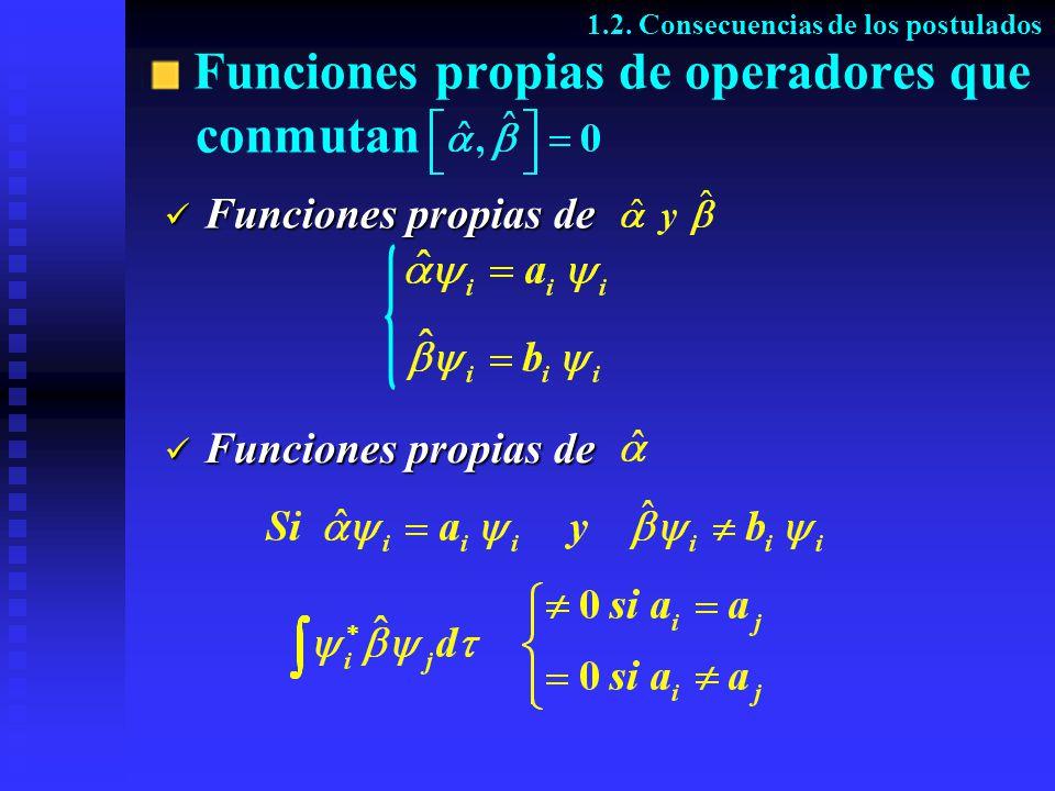 Funciones propias de operadores que conmutan